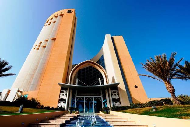 Aus diesem Hotel in Tripolis wurde der Regierungschef entführt
