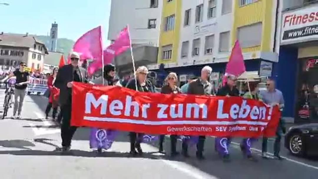 1.Mai-Kundgebung und Fest in Olten 2019