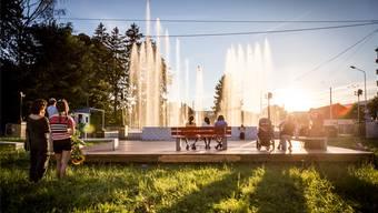 Im August 2016 wurde auf dem Stadtplatz ein Wasserspiel organisiert, das von Musik begleitet wurde. (Archiv)