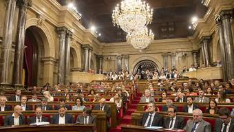 Blick ins katalonische Parlament am Tag der Abstimmung über den Urnengang für die Unabhängigkeit