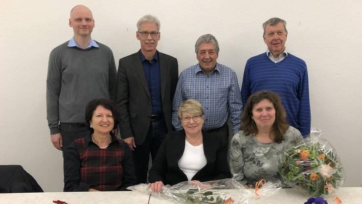 Bildlegende: Der Vorstand des Verschönerungsvereins Frick (jeweils von links): Brigitte Asti, Doris Vonlanthen (neu), Carola Schmid (Rücktritt), Eugen Voronkov, Markus Stihl, Hans Jörg Huber und Christian Scholer.
