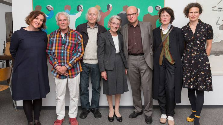 Ein Abend für Paul Meier (v.l.): Dorothee Messmer, Peter Killer, Roman Candio, Hedy Meier, Martin Meier, Marie ThereseBätschmann und Katja Herlach. Patrick Lüthy