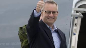 Ein zufriedener kanadischer Handelsminister Ed Fast (Archiv)