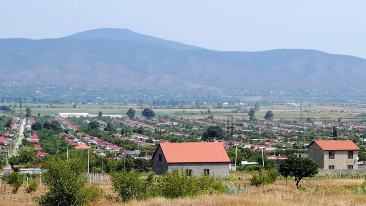 8000 Binnenflüchtlinge leben in der Siedlung Zerowani unweit der georgischen Hauptstadt Tiflis...