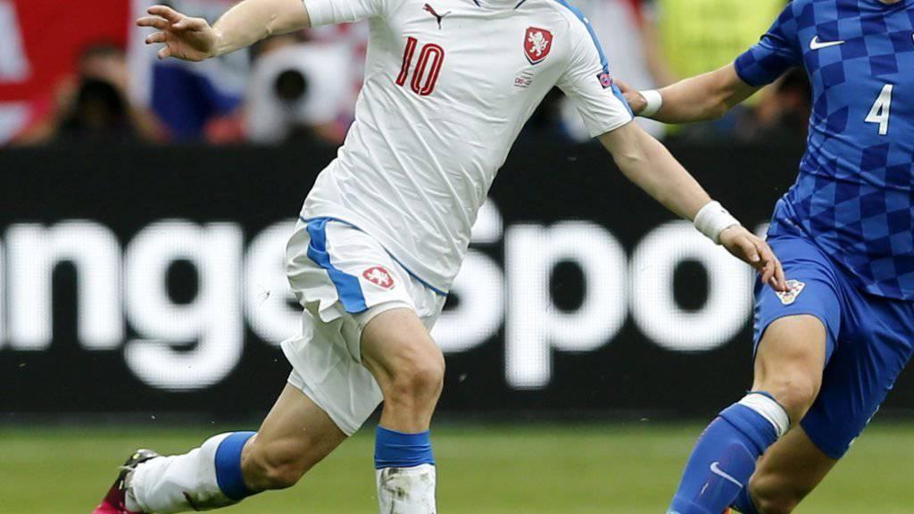 Tomas Rosicky bei seinem letzten Auftritt für die tschechische Nationalmannschaft 2016 gegen Kroatien