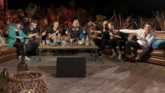 """Am Freitag gehts los: TV24 sendet die Schweizer Adaption von """"Sing meinen Song - Das Tauschkonzert"""" - mit Francine Jordi, Marc Storace, Seven, Stefanie Heinzmann, Ritschi, Steff la Cheffe und Loco Escrito (v.l.n.r.)."""