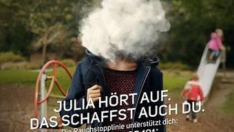 Plakat der neuen Rauchstopp-Kampagne des BAG