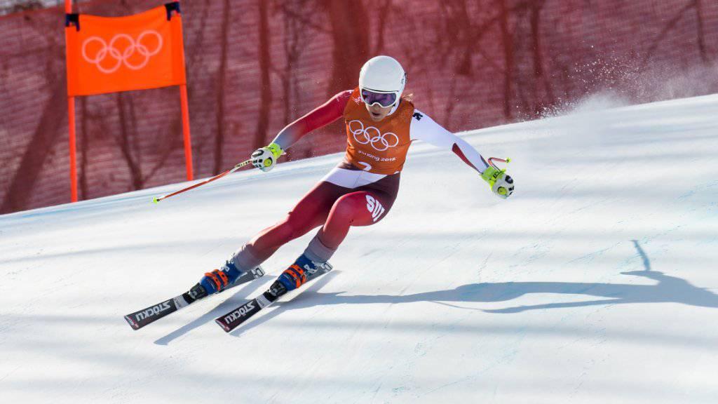 Gegen den Schweizer Skihersteller Stöckli, der unter anderen auch die Schweizer Skirennfahrerin Jasmine Flury ausrüstet, läuft eine Untersuchung der Wettbewerbskommission wegen mutmasslicher Preisabsprachen und einem Verbot des Online-Handels. (Archivbild)