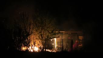In Winterthur ist ein Püntenhäuschen in Flammen aufgegangen. Verletzt wurde niemand.