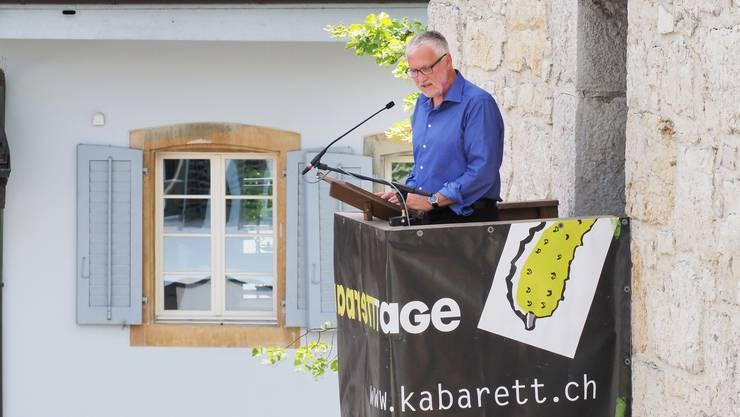 Turmrede der 31. Oltner Kabarett-Tage mit Alt-Regierungsrat Peter Gomm