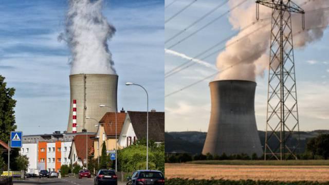 Nach ersten Einschätzungen der Alpiq würden sich Mehrkosten aus Beteiligungen in die Kernkraftwerke Leibstadt (links) und Gösgen von jährlich rund 15 Mio. Franken pro Jahr ergeben.