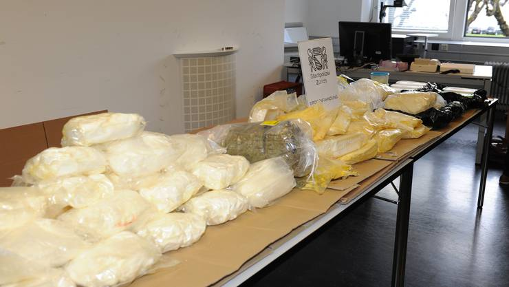 Das beschlagnahmte Amphetamin