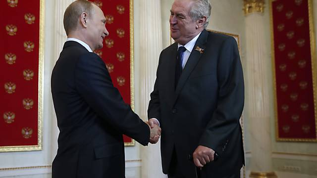 Präsident Putin empfängt seinen tschechischen Amtskollegen Zeman
