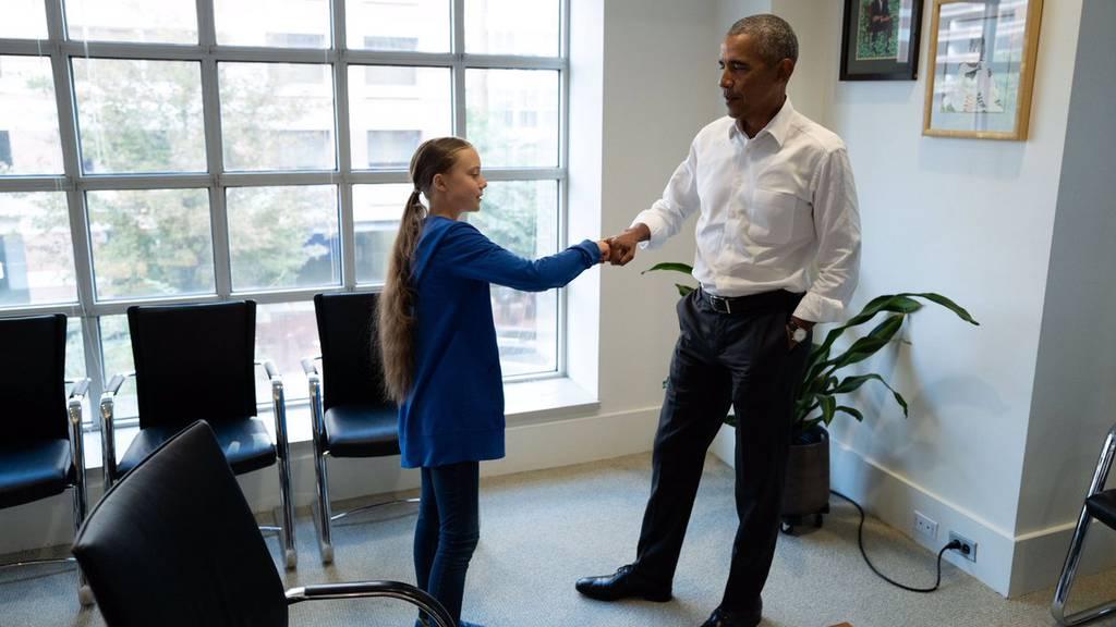 Greta trifft auf Obama