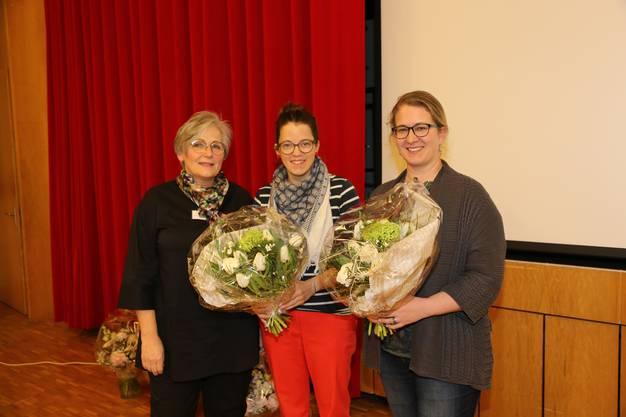 v.l.n.r. Doris Meister, Rebekka Salm, Nadja Frey