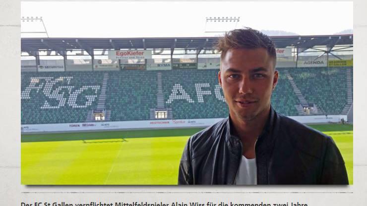 Alain Wiss wechselt zum FC St. Gallen
