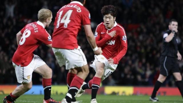 Matchwinner für Manchester United: Ji-Sung Park (r.)