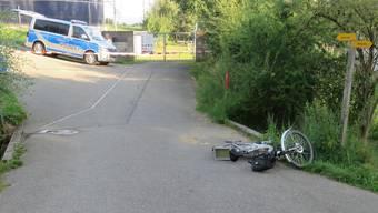 Kollision zweier E-Bikes in Jonen