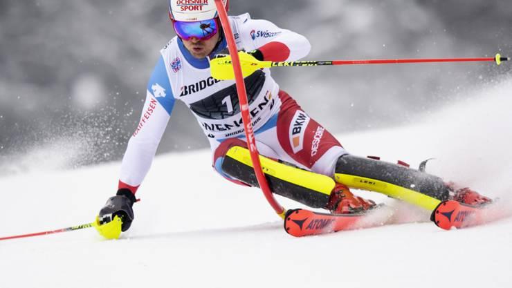 Der Speed-Spezialist Mauro Caviezel zeigte vor allem im Slalom eine starke Leistung, in der nachfolgenden Abfahrt vergab er dann die Podestplatzierung