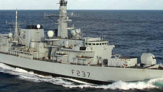 Die britische Fregatte HMS Westminster