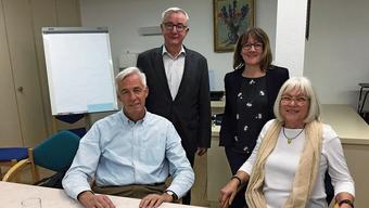 Max R. Schlör, Martin Heiz, Janine Murer und Therese Gautschi (v.l.) sind von der neuen Lösung überzeugt.