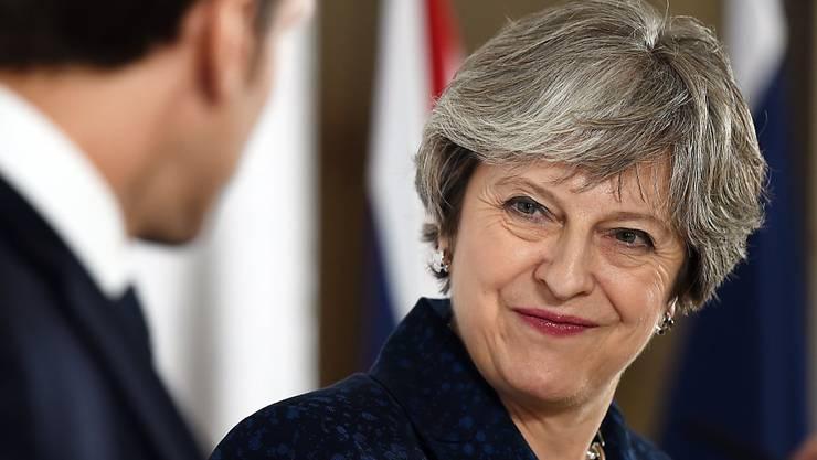 """""""Es kommt kein zweites Referendum über den EU-Austritt"""": die britische Premierministerin Theresa May."""