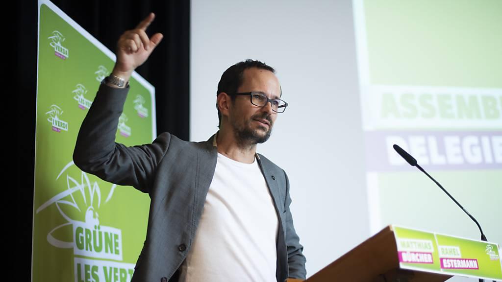 Balthasar Glättli, Fraktionschef der Grünen im Bundeshaus, beziffert die Chancen für den Einzug der Partei in den Bundesrat bei den Gesamterneuerungswahlen am 11. Dezember auf über 50 Prozent. (Archivbild)