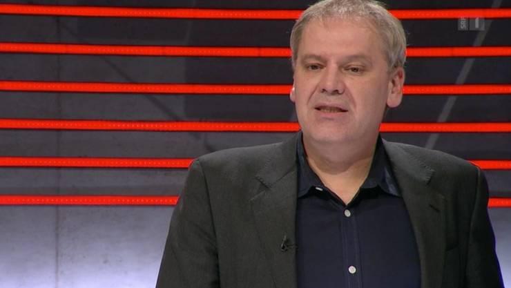 Patrick Mathys, Leiter der Sektion für Krisenbewältigung beim BAG, gesteht in der SRF-Arena Mängel bei der anfänglichen Kommunikation des BAGs ein.