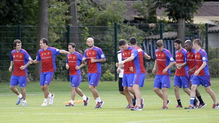 Erstes Training in Basel. Am Mittwoch stand nur Auslaufen auf dem Programm.