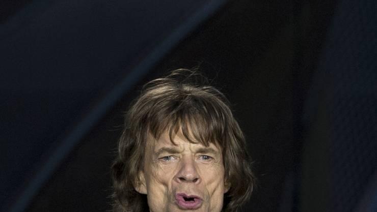 Einmal tief durchatmen: An der Hochzeit seines Sohnes traf Mick Jagger erstmals auf Rupert Murdoch, den neuen Mann seiner Ex Jerry Hall. (Archivbild)