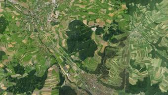 Um von Schupfart (rechts oben) nach Frick (links) zu kommen, nutzen viele Autofahrer eine Abkürzung über den Seckenberg (Mitte), um nicht über Eiken (unten) fahren zu müssen.