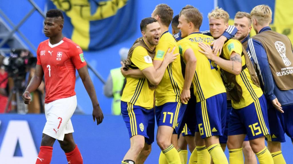 Am Ende des WM-Achtelfinals 2018 jubelten die Schweden