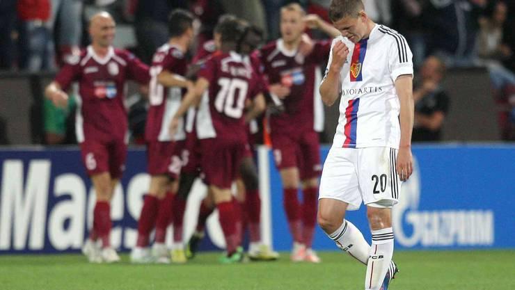 Der Ex-Basler Fabian Frei ist enttäuscht nach dem Ausscheiden gegen Cluj.