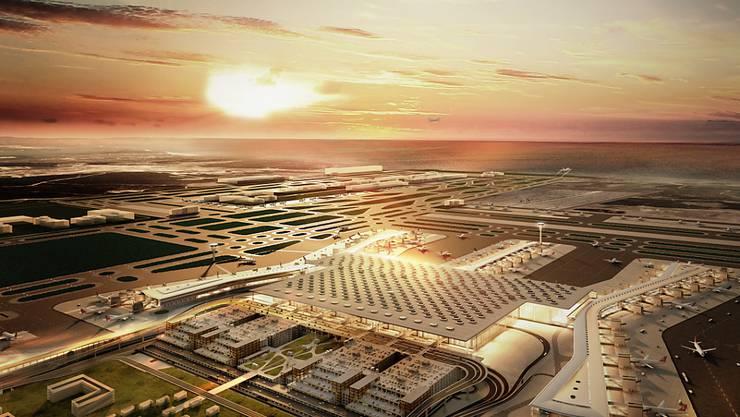 Nach der Fertigstellung wird der neue Flughafen in Istanbul von mehr als 150 Airlines genutzt, die wiederum über 350 Destinationen anfliegen. Es wird ein jährliches Passagieraufkommen von rund 200 Millionen erwartet.