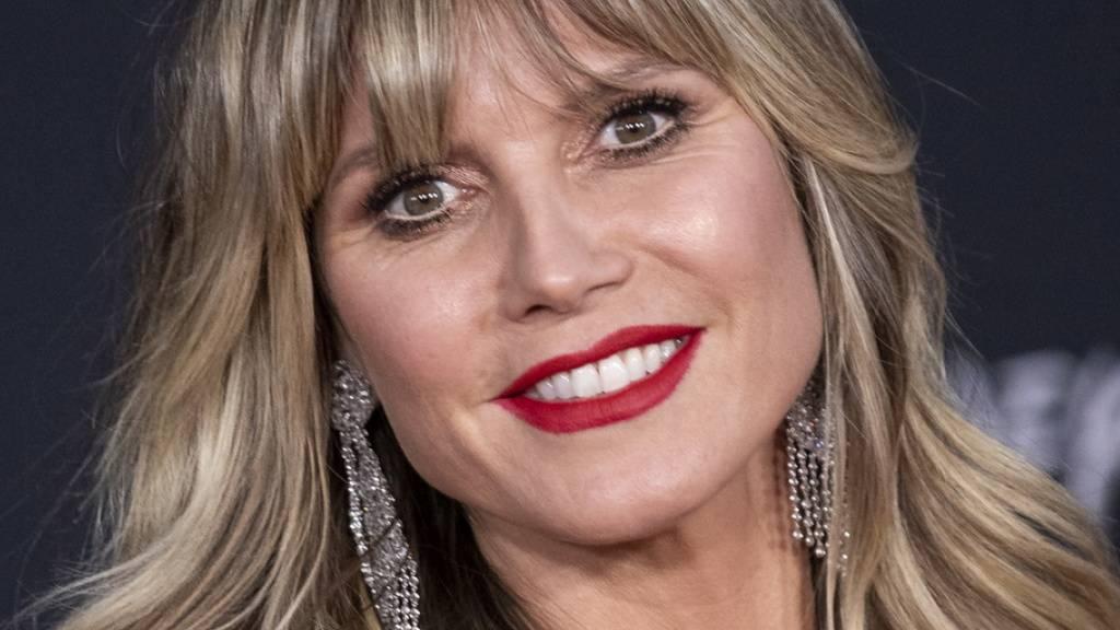 Heidi Klum, Moderatorin bei «Germany's Next Top Model» gibt einen winzigen Einblick in das Privatleben ihrer Kinder: Nur ihre 15-jährige Tochter Leni wolle in ihre Fussstapfen in der Modebranche treten. (Archivbild)