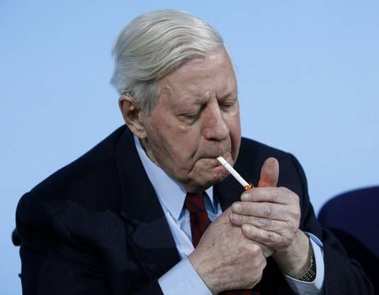Schmidt war starker Raucher