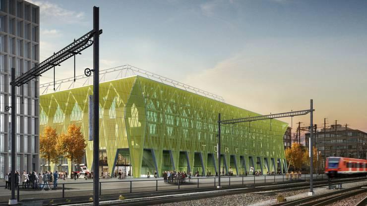 So soll das neue Aarauer Stadion aussehen