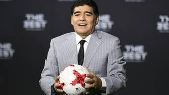 Diego Armando Maradona - im Bild vor der FIFA-Gala im Januar in Zürich - arbeitet neu für die FIFA
