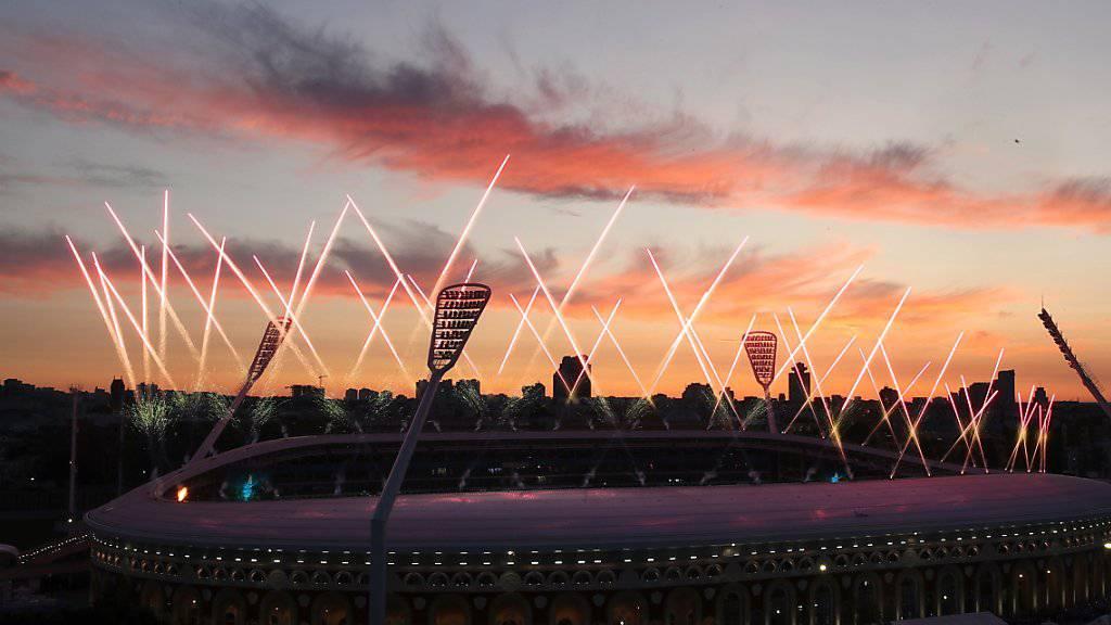 Mit Feuerwerk und grosser Show finden die Europa-Spiele in Minsk ihr Ende