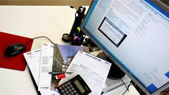 Online ausgefüllte Steuererklärungen müssen nicht mehr ausgedruckt werden. (Archiv)