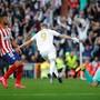 Karim Benzema jubelt nach dem goldenen Treffer im Madrider Derby