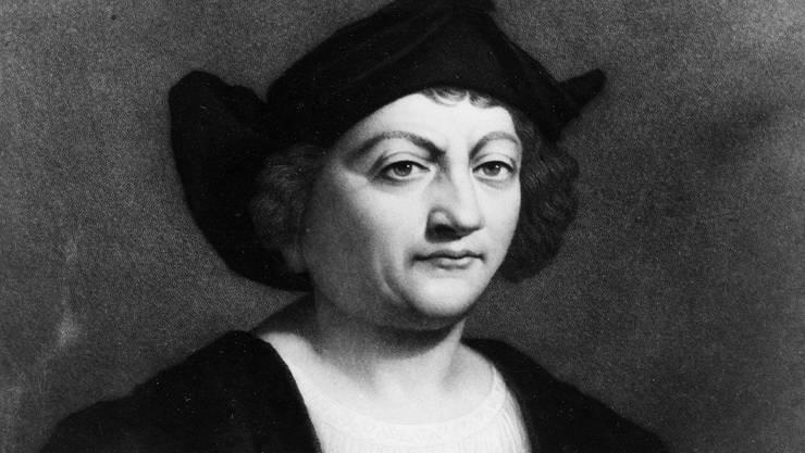 Der Seefahrer Christoph Kolumbus, auf einem undatierten Gemälde des italienischen Künstlers Sebastiano Del Piombo.