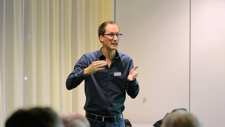 Thomas Maier erklärte, wie das Leistungsdiagnostikzentrum im Grenchner Velodrome funktionieren wird.