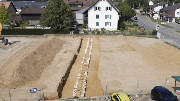 Das 40 Meter lange Teilstück wird nach der Dokumentation durch die Kantonsarchäologie abgebrochen.