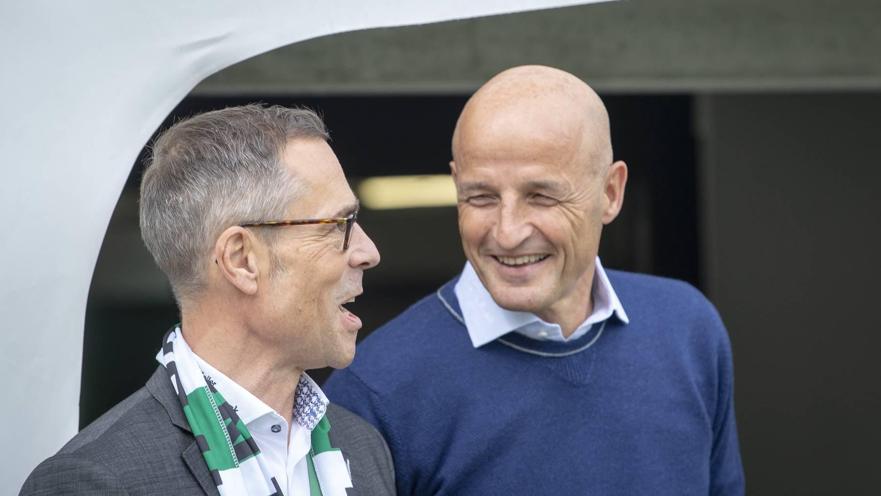 Matthias Hüppi und Peter Zeidler stellen sich den Fragen der Fans.