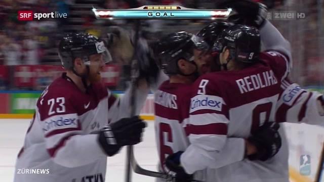 Eishockey: Schweiz gegen Lettland