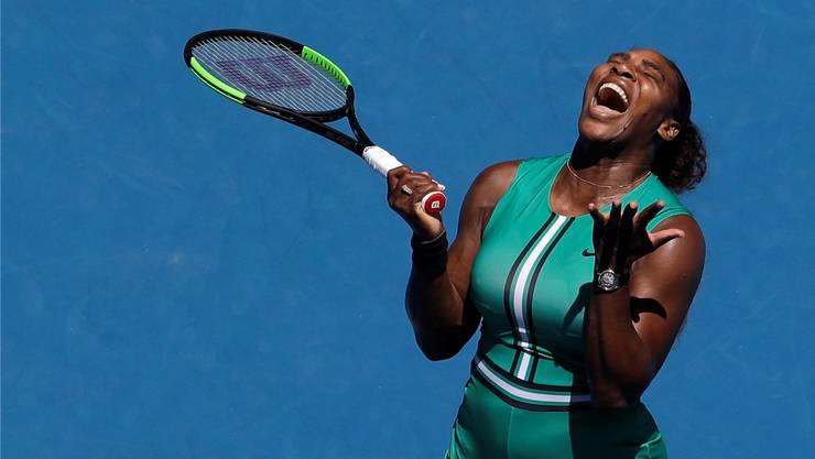 Serena Williams gibt offen und ehrlich zu: «Ich bin keine gute Verliererin.»Mark Schiefelbein/Keystone
