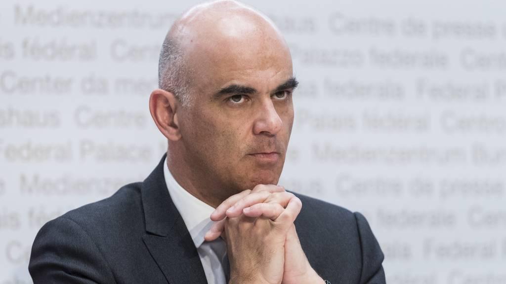 Alain Berset an der Bundesrats-Pressekonferenz vom Freitag.