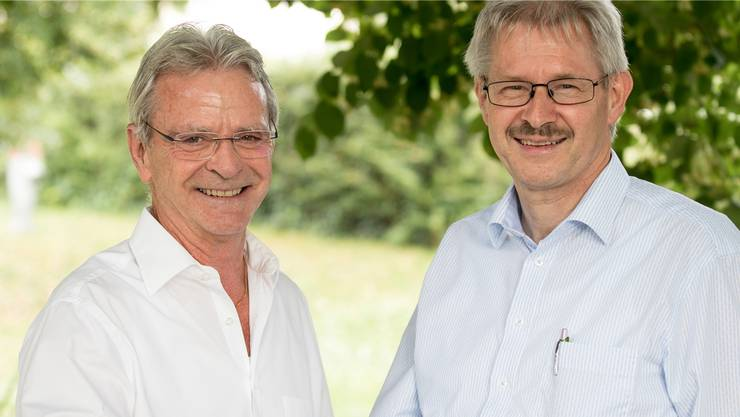 Alter und neuer VR-Präsident: Hans Killer (l.) und Kurt Schmid. zvg