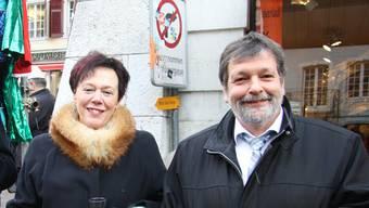 Esther Gassler und Roland Heim setzten sich für die Unternehmenssteuerreform III ein.